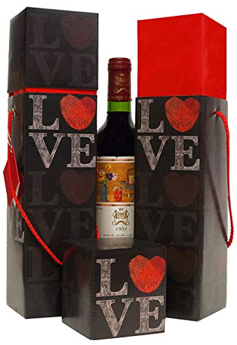 Wine Gift Box X2 Reusable Caddy Easy To Assemble No Glue Required Gift Tag Included Love Heart Design Lafite Collection Ez Wine Gift Box