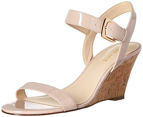 Nine West Women's Kiani Synthetic Wedge Sandal, Light Natural, 41.5 B(M) EU/8.5 B(M) UK