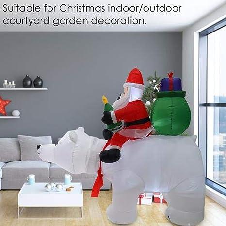 Muñeca hinchable de oso polar de Navidad, 2 m: Amazon.es ...