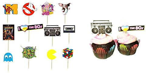 I love the 80s Cupcake Toppers -