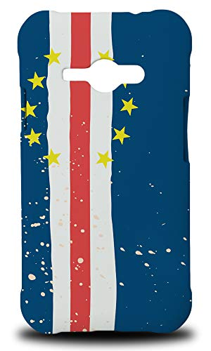 Cape Verde Country Flag Hard Phone Case Cover for Samsung Galaxy J1 Ace
