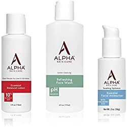 Alpha Skin Care- Introductory Kit | Refreshing Face Wash, Essential Renewal Lotion, Essential Facial Moisturizer | Basic Daily Skin Care Routine for all Skin Types