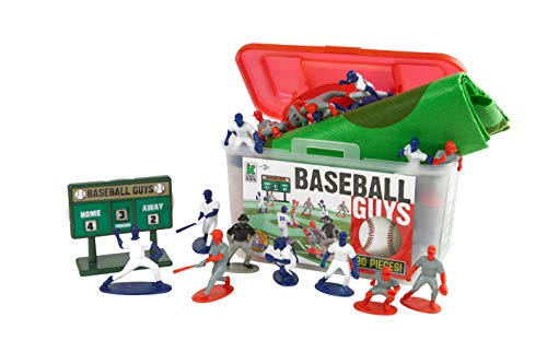 Kaskey Kids Baseball Guys: Red vs Blue - Inspires Imagination with endless hours of creative, open-ended play - 2 Full Teams (Mini Soccer Cake Topper)