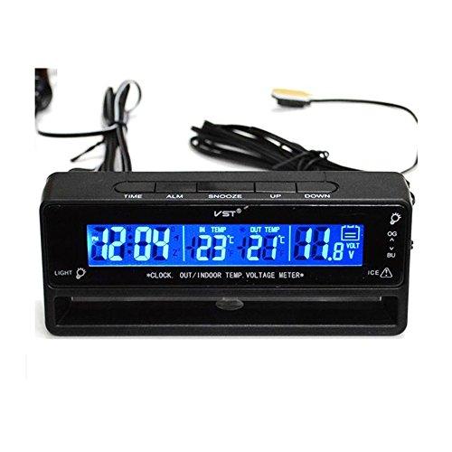 Flameer Digital Clock Temperature Meter Thermometer Car Volt Measuring TS-7010V by Flameer (Image #3)