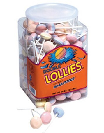 Smarties Double Lollies, 200 Count by Smarties [Foods]