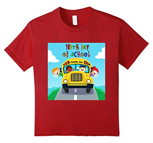 Kids Happy 100th Day Of School T-Shirt Costume 4 Cranberry (4 People Costume Ideas)