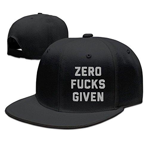 Zero Fucks Given Graphic-Print Visor Hats Snapback
