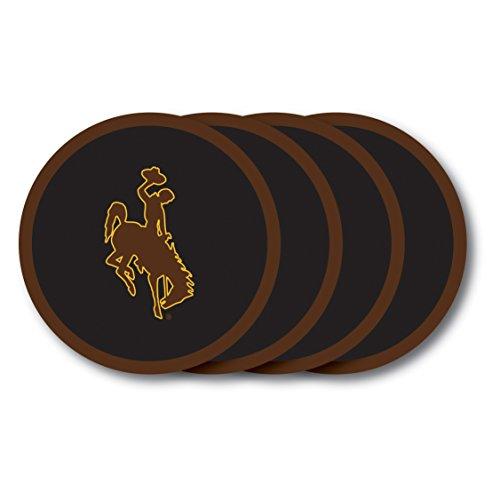 NCAA Wyoming Cowboys Vinyl Coaster Set (Pack of 4) ()