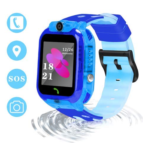 LJRYCQSSZSF 2019 Newest Kids Smart GPS Phone Watch Ip68 Waterproof Gizmo Game Smart Watch Boys Girls with 1.44 Inch HD Camera Micro Chat Clock Alarm Puzzle Game Education Toys Gift (Green)