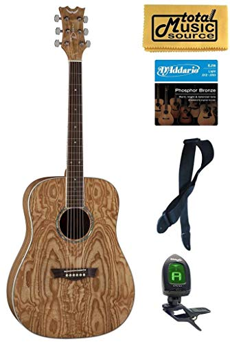 Dean Guitars AX DQA GN Acoustic Guitar Bundle (Dean Ax Dqa Acoustic Guitar)