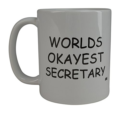 Rogue River Funny Coffee Mug Wolds Okayest Secretary Novelty Cup Great Gift Idea For Office Gag White Elephant Gift Humor Workplace Boss Employee Gift (Secretary)