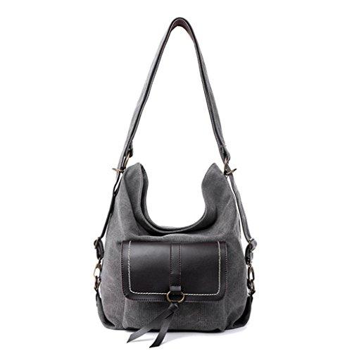 Sucastle sacchetto di modo Retro borsa casual tracolla messenger bag borsa di tela Sucastle Colore: grigio Dimensione: 38x30x15cm