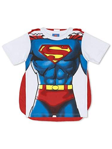 Camiseta Marlan Curta Super Homem com Capa Branca