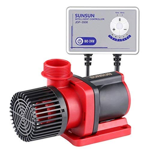 Grech Sunsun JDP-3500 Controllable Dc Variable Water Pump 1585GPH with Controller for Marine Freshwater Aquarium Pond Circulation alternative of Jebao DCT-3000, DCS-3000, DCP-3000, DCQ-3500