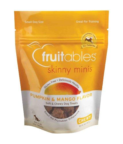 Fruitables Pumpkin and Mango Skinny Mini Dog Treats 5-Ounce, My Pet Supplies