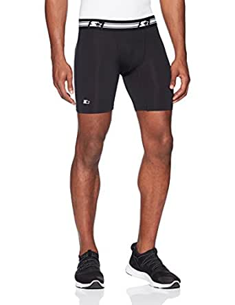 "Starter Men's 6"" Athletic Light-Compression Short, Amazon Exclusive, Black, Small"