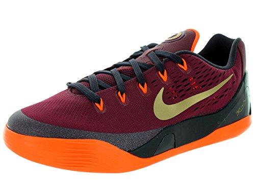 Nike Kids Kobe IX (GS) Deep Garnet/Metallic Gold Basketball Shoe 6.5 Kids US (Kids Nike Kobe Shoes)