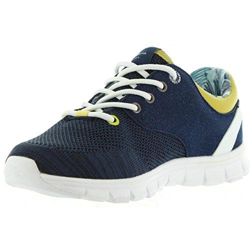 Bleu Mesh Jeans Sneakers Pepe garçon Coven Basses xqf8Aw6YO