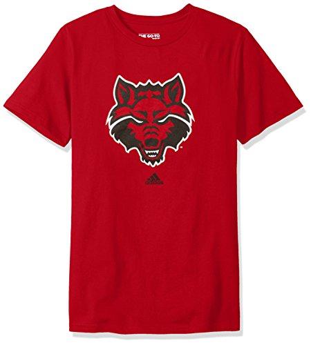 Addidas NCAA Men's Arkansas State University Red Wolves Primary Logo Short Sleeve Tee - Medium (Arkansas State University Football)