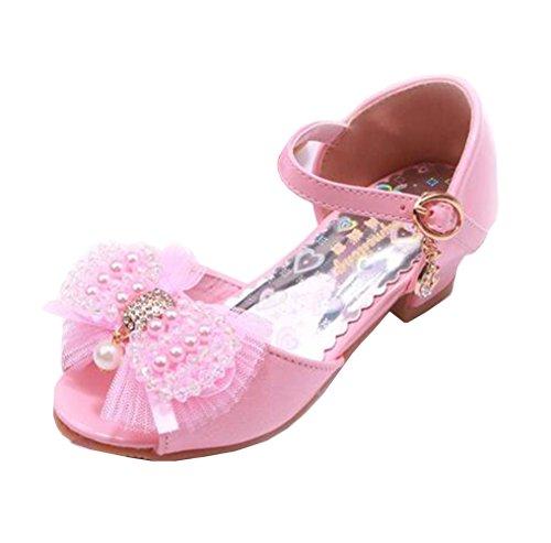 Kinder Mädchen Flach Freizeit Sandalen Sandaletten Kleinkinder Mädchen Halbschuhe Sandalette Ballerinas OHmais ap4MA