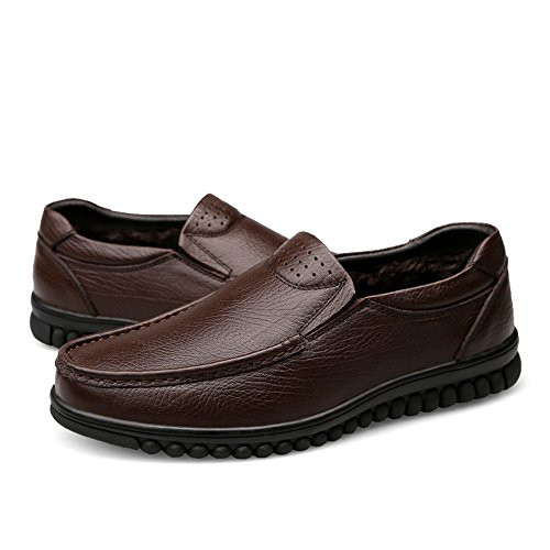 Scarpe in Mocassini Velvet Brown hollywoodiano Uomo da da Pelle Cricket Stile BEBxqYUw
