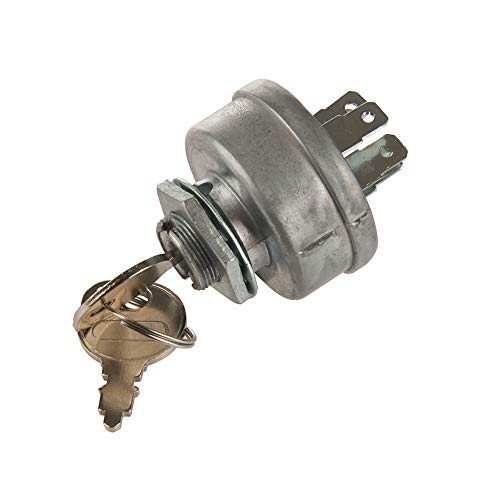 MIDIYA Genuine Parts Tractor Ignition starter Switch With 2 Keys For Toro Craftsman Lawn Mower Parts Sears MTD Craftsman John Deere Toro Riding Lawn Mower STD365402 24688 725-0267 925-0267 21064 42106