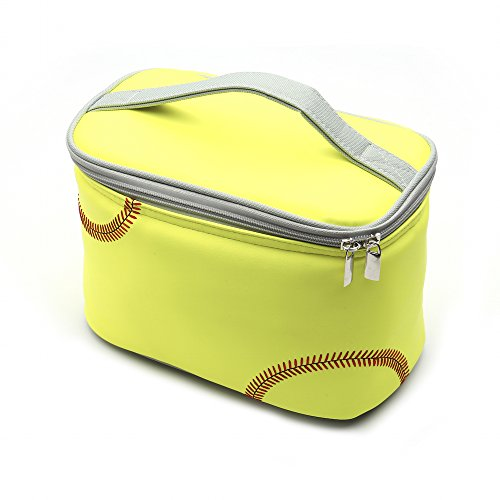 Cheap Zumer Sport Actual Ball Material Insulated Lunch Cooler Bag, Softball Yellow, One Size