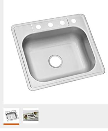glacier bay 22 gauge single bowl kitchen sink 25 x 22 4 hole. beautiful ideas. Home Design Ideas