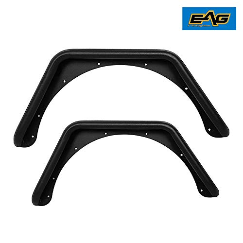 EAG Body Armor Tube Fenders w// 3 inch Flares Black Textured Fit for 76-86 Jeep Wrangler CJ7