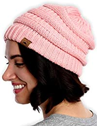 7ec76285d7cd86 Cable Knit Beanie - Thick, Soft & Warm Chunky Beanie Hats for Women & Men