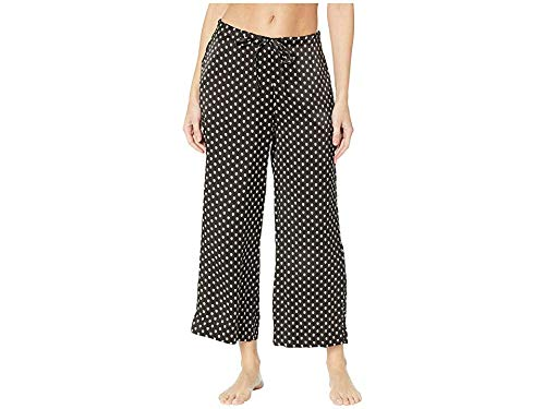 commando Women's Silk Wide Leg Crop Pants SLK103 Skull Medium