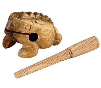 Nino Percussion NINO517 Extra Small Wood Frog Guiro, Natural Finish from Nino Percussion