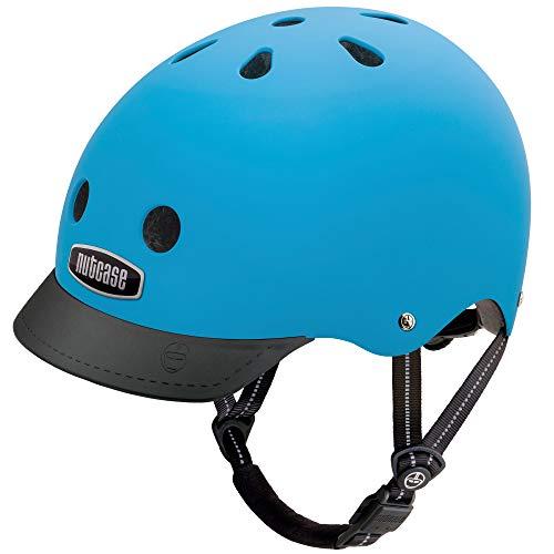 Nutcase - Solid Street Bike Helmet for Adults, Bay Blue Matte, Large