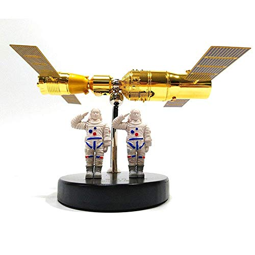 LLDDP Deformation robot Diecast Airplane 1:80 Tiangong No. 2 Shenzhou 11 Docking Model Alloy Tiangong 2 Space Spacecraft Satellite Ornaments,The For Child And Adult,aircraft Hobby Collector Deformed t from LLDDP//Toy model