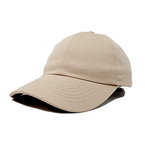 - Dalix Unisex Unstructured Cotton Cap Adjustable Plain Hat, Khaki