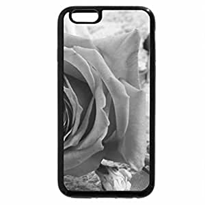 iPhone 6S Case, iPhone 6 Case (Black & White) - Beautiful rose