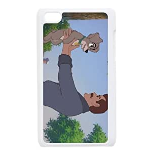 iPod Touch 4 Case White Disney Lady and the Tramp Character Jim Dear 001 PW1535631