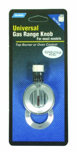 Camco 00993 Gas Range Oven Knob Burner (Chrome) (Oven Chrome Gas Knob)