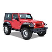 Bushwacker 10046-02 Pocket Style Fender Flares 07-15 Jeep Wrangler JK Rear by Bushwacker