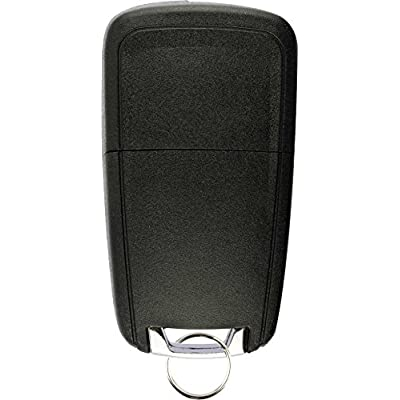 KeylessOption Keyless Entry Car Remote Uncut Flip Ignition Key Fob Replacement for OHT01060512: Automotive