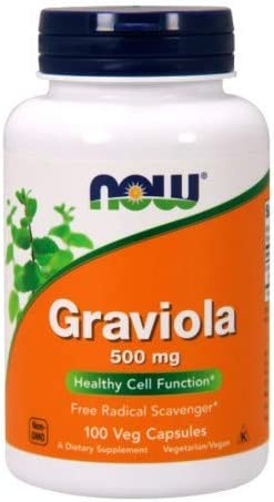 Now Foods Graviola, 100 caps 5 pack