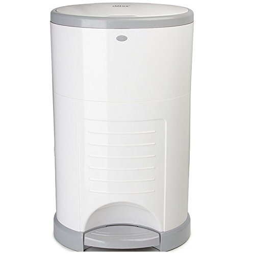 dekor-mini-hands-free-diaper-pail-white