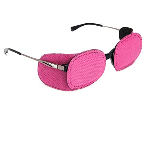 Xbes Kids Amblyopia Eye Patch for Glasses for treating Children Lazy Eye/Strabismus,No irritation to childrens skin! !Pink(pack of 6)