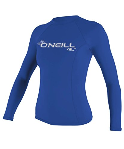O'Neill Women's Basic Skins Upf 50+ Long Sleeve Rash Guard, Deep Sea, ()