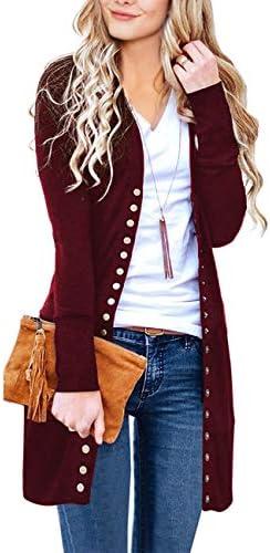 MEROKEETY Womens Sleeve Neckline Cardigans product image