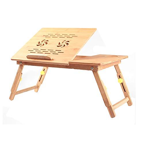 LFF- Ajustable en Altura Laptop Stand Plegable del hogar del Ordenador con el Ventilador de bambú Pequeño Estudio Teórico