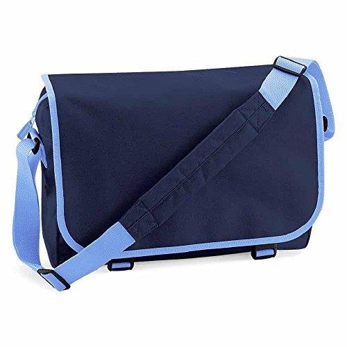 Bag Base , Borsa Messenger  blu bleu navy et bleu ciel taglia unica