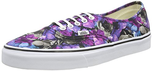 Vans Authentic, Zapatillas Unisex Adulto Negro (Digi Floral - Multi/True White)