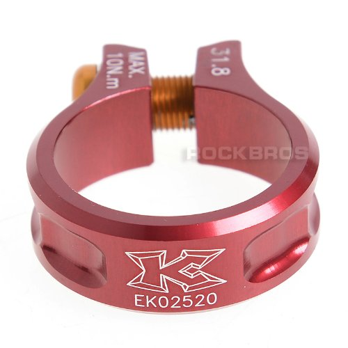 KCNC MTB Seatpost Seat Post Clamp Scandium Alloy Bolt SC11 Red 31.8mm