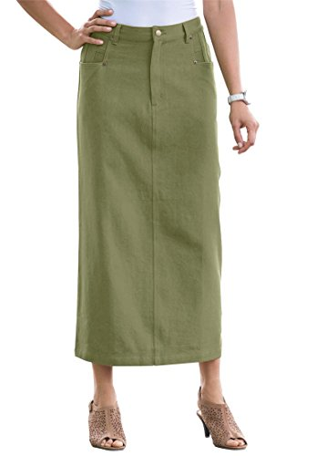 Jessica-London-Womens-Plus-Size-L-Pocket-Long-Skirt